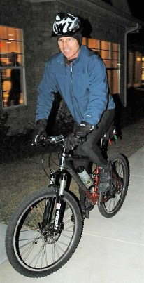 Jim-Schmid-on-night-ride-IMBA-Trailbuilding-School-Tallahassee-FL-Dec-8-10-2006