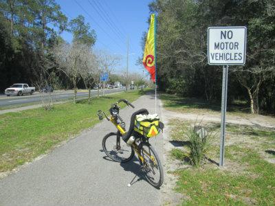 Jim-Schmid's-Bacchetta-Giro-recumbent-on-Waldo-Road-Greenway-Gainesville-FL-02-18-2016