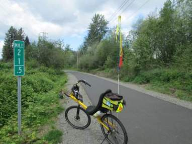 Jim-Schmid's-Bacchetta-Giro-recumbent-eastern-end-of-Springwater-Corridor-Rail-Trail-Portland-OR-4-25-2016