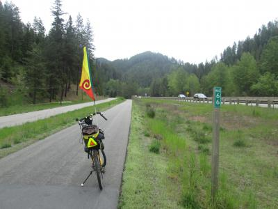 Jim-Schmid's-Bacchetta-Giro-recumbent-at-Milepost-66-Trail-of-the-Coeur-d'Alenes-ID-5-15-2016