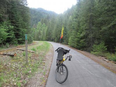 Jim-Schmid's-Bacchetta-Giro-recumbent-at-Milepost-67-Trail-of-the-Coeur-d'Alenes-ID-5-15-2016