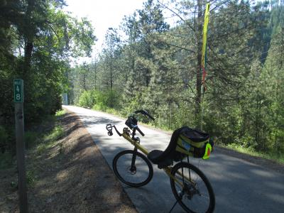 Jim-Schmid's-Bacchetta-Giro-recumbent-at-Milepost-48-Trail-of-the-Coeur-d'Alenes-ID-5-14-2016