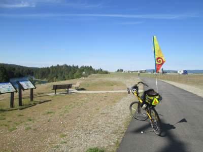 Jim-Schmid's-Bacchetta-Giro-recumbent-on-Centennial-Trail-Coeur-d'alene-ID-4-28-2016