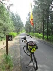 Jim-Schmid's-Bacchetta-Giro-recumbent-Milepost-9-shot-up-on-Latah-Trail-Moscow-to-Troy-ID-5-9-2016
