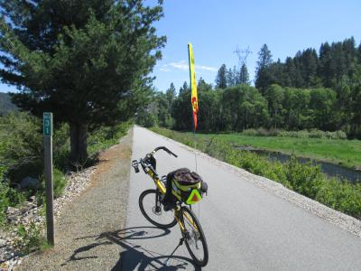 Jim-Schmid's-Bacchetta-Giro-recumbent-at-Milepost-31-Trail-of-the-Coeur-d'Alenes-ID-5-13-2016
