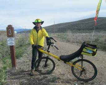 Jim-Schmid-with-Bacchetta-Giro-recumbent-at-Milepost-3-on-Union-Pacific-Rail-Trail-Park-City-to-Echo-UT-5-1-2016