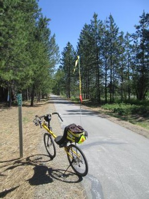 Jim-Schmid's-Bacchetta-Giro-recumbent-at-Milepost-32-Trail-of-the-Coeur-d'Alenes-ID-5-13-2016