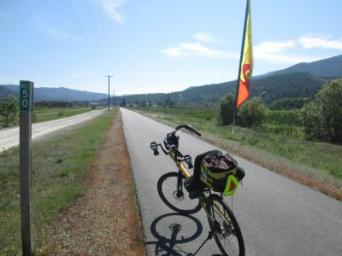 Jim-Schmid's-Bacchetta-Giro-recumbent-at-Milepost-50-Trail-of-the-Coeur-d'Alenes-ID-5-14-2016