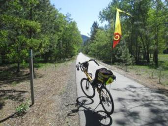 Jim-Schmid's-Bacchetta-Giro-recumbent-at-Milepost-34-Trail-of-the-Coeur-d'Alenes-ID-5-13-2016