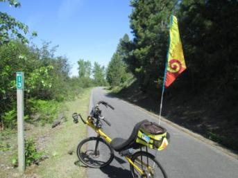 Jim-Schmid's-Bacchetta-Giro-recumbent-at-Milepost-12-Trail-of-the-Coeur-d'Alenes-ID-5-12-2016