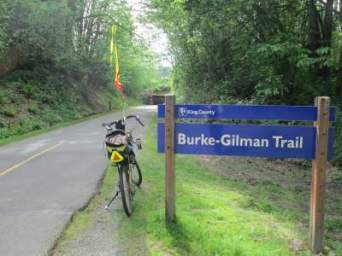 Jim-Schmid's-Bacchetta-Giro-recumbent-at-east-end-of-Burke-Gilman-Rail-Trail-Seattle-WA-4-26-2016