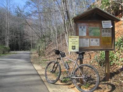 Jim-Schmid's-mtn-bike-on-Point-Lookout-Trail-Pisgah-NF-NC-03-18-2016