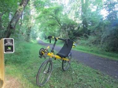 Jim-Schmid's-Bacchetta-Giro-recumbent-on-Virginia-Creeper-Trail-07-10-2016