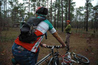 Jim-Schmid-and-Bill-Otersen-laying-out-Twilight-Trail-Tallahassee-FL-2007