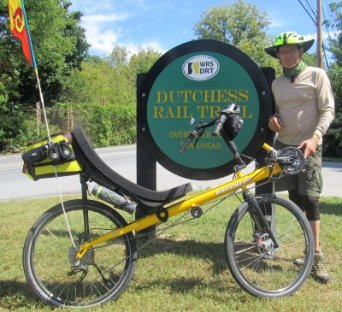 Jim-Schmid-with-Bacchetta-Giro-recumbent-Dutchess-Rail-Trail-NY-8-30-2016