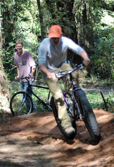 Jim-Schmid-riding-Fatbike-Lower-Cadillac-Trail-workday-Tallahassee-FL-10-14-2007