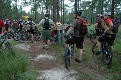 Valarie-Naylor-and-group-Munson-Trail-assessment-ride-Tallahassee-FL-9-12-2009