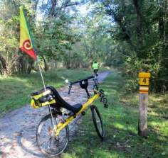Jim-Schmid's-Bacchetta-Giro-recumbent-at-MP-4-Torrey-C-Brown-Rail-Trail-MD-10-4-2016