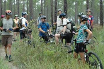 Jim-Schmid-and-group-Munson-Trail-assessment-ride-Tallahassee-FL-9-12-2009