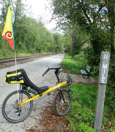 Jim-Schmid's-Bacchetta-Giro-recumbent-at-MP-11-Heritage-Rail-Trail-PA-10-5-2016