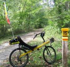Jim-Schmid's-Bacchetta-Giro-recumbent-at-MP-15-Torrey-C-Brown-Rail-Trail-MD-10-4-2016