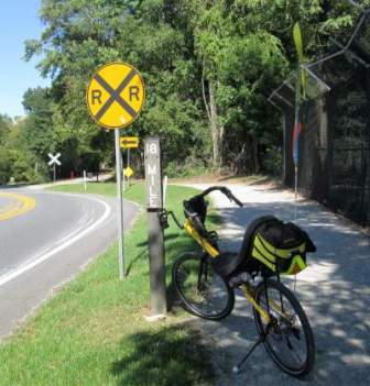 Jim-Schmid's-Bacchetta-Giro-recumbent-at-MP-18-Heritage-Rail-Trail-PA-10-5-2016