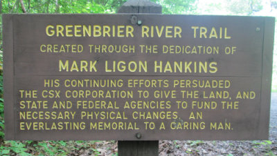 Thanking_Mark_Ligon_Hankins_for_creating_trail_sign_Greenbrier-River-Trail-WV-06_21-24-2015