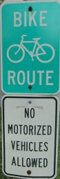 Bike-Route-No-motorized-vehicles-allowed-signs-Longleaf-Trace-MS-2015-06-11