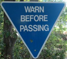 Warn-before-passing-sign-W&OD-Rail-Trail-VA-2015-10-6&7