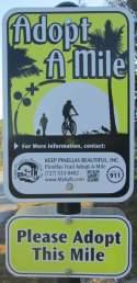 Adopt-a-mile-sign-Pinellas-Rail-Trail-FL-1-25-2016