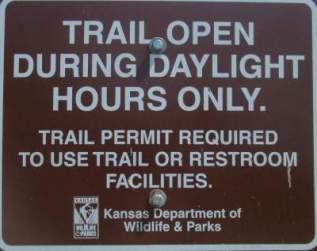 Open-daylight-only-sign-Prairie-Spirit-Trail-Ottawa-to-Iola-KS-6-3-2016