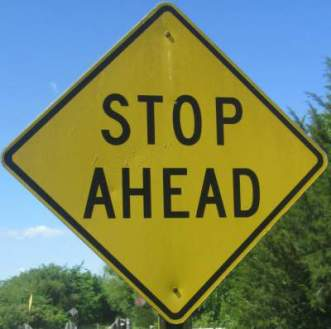 Stop-ahead-sign-Prairie-Spirit-Trail-Ottawa-to-Iola-KS-6-3-2016