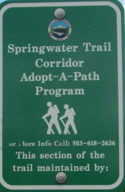 Adopt-a-path-sign-Springwater-Corridor-Portland-OR-4-25-2016
