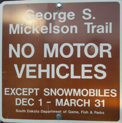 No-motor-vehicles-sign-Mickelson-Trail-SD-5-28-to-6-1-2016