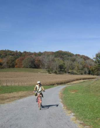 Sandra-Schmid-bicycling-VA-Creeper-Trail-VA-10-28-2016