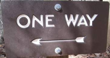 One-way-sign-Lake-James-State-Park-mtn-bike-trail-NC-2-20-2017