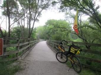 Jim-Schmid's-Bacchetta-Giro-recumbent-bridge-Wabash-Trail-IA-5-16-17