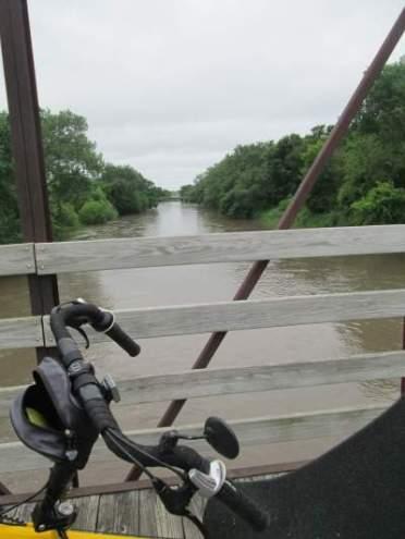 Jim-Schmid's-Bacchetta-Giro-recumbent-bridge-Wabash-Trail-IA-5-18-17