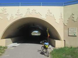 Jim-Schmid's-Bacchetta-Giro-recumbent-bridge-Paul-Bunyan-Trail-MN-5-11-17