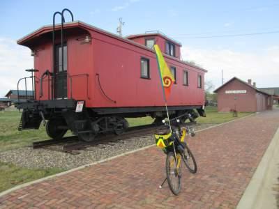 Jim-Schmid's-Bacchetta-Giro-recumbent-caboose-Paul-Bunyan-Trail-MN-5-12-17