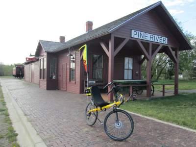 Jim-Schmid's-Bacchetta-Giro-recumbent-depot-Paul-Bunyan-Trail-MN-5-12-17