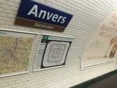 Paris metro at Anvers stop