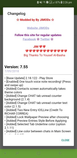 WhatsApp Plus JiMODs v7.55 New Jimtechs Editions
