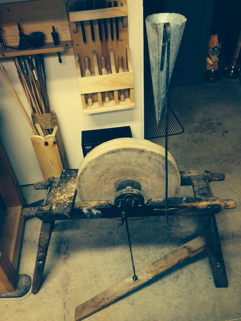 Antique Sandstone Grinding Wheel Tool Grinder