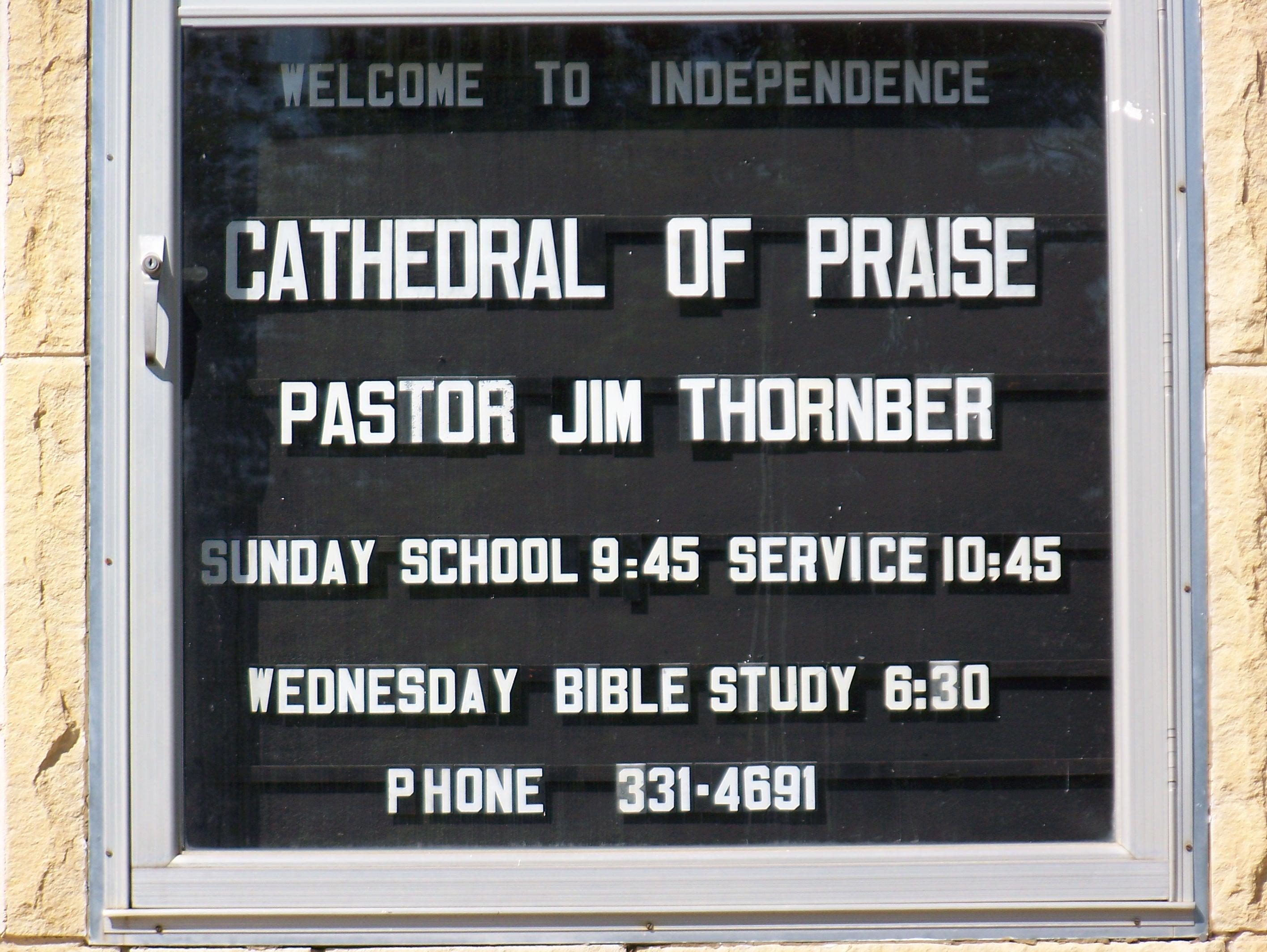 Pastor Jim sign