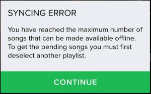 Syncing Error