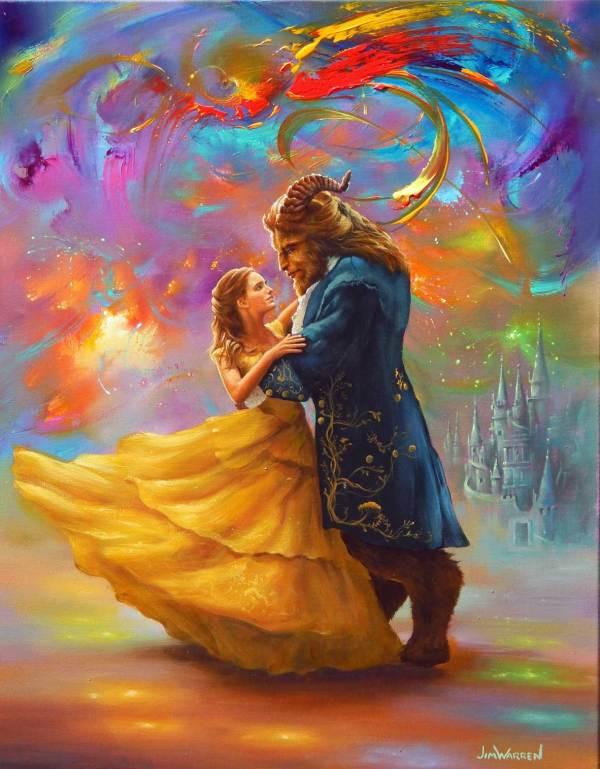 Beauty and the Beast Disney Fine Art