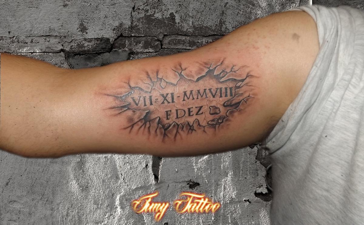 Tattoo Piedra Iniciales Jimy Tattoo Studio