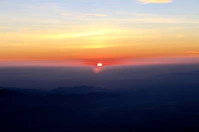 sunrise at top