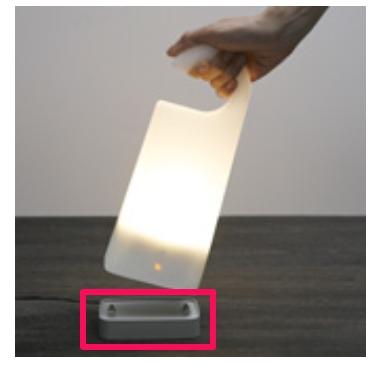 エル光源LED寝室読書灯 LFX1-OLE(オレ) 卓上タイプ (ブラック
